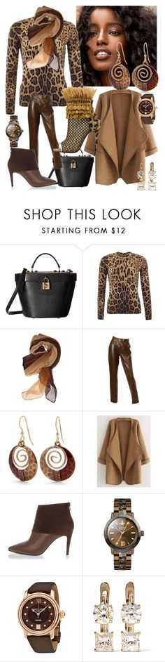 """Animalistic"" by trescrwndgg ❤ liked on Polyvore featuring Dolce&Gabbana, Burberry, Silver Forest, Pierre Hardy, Christian Louboutin, Vivienne Westwood, Frédérique Constant and Ileana Makri"