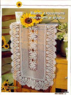 croche: napkin tablecloth