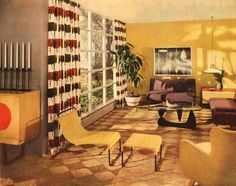 Retro renovate your living room into the mid century modern room of your dreams! Décoration Mid Century, Mid Century House, Mid Century Style, Mid Century Design, Mid Century Modern Living Room, Mid Century Modern Decor, 1960s Living Room, Vintage Space, Retro Vintage