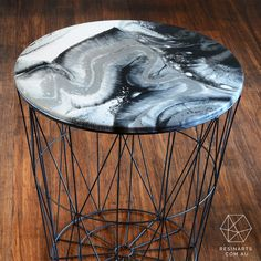 Stephanite Side Table | Home Decor | Oraco Resin Arts
