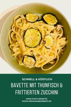 Bavette mit Thunfisch und frittierten Zucchini Weeknight Meals, Easy Meals, Yummy Recipes, Yummy Food, Friday Night Dinners, Bastilla, Date Dinner, Cooking, Gnocchi