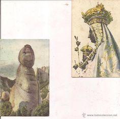 Montserrat, Imagen de Nuestra Señora y El Gegant Encantat. Sin circular