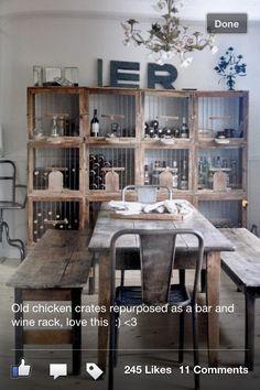 Chicken Crates Repurposed