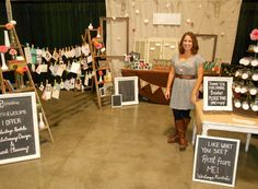 love the chalkboards instead of printing up and framing signs for a trade show