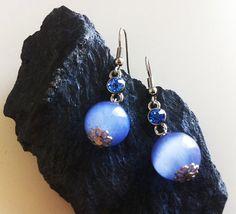 Moonlight Blue Earrings by EridaneasBoutique on Etsy, $12.00