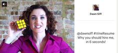 Tu currículum puede caber en un folio... ¡o en 6 segundos de video!   El caso de la periodista Dawn Siff #empleo #RRHH #reclutamiento