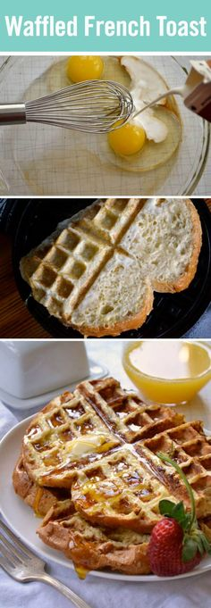 Behold, the future of breakfast: Waffled French Toast. It takes your classic French toast recipe and waffles it to create perfect syrup pockets. This is truly an evolution among breakfast foods.
