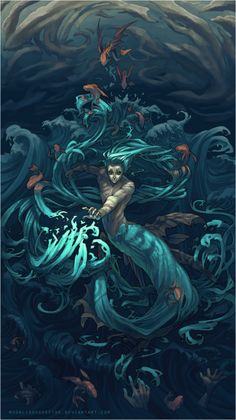 i am water, by moonlightspectre #merman