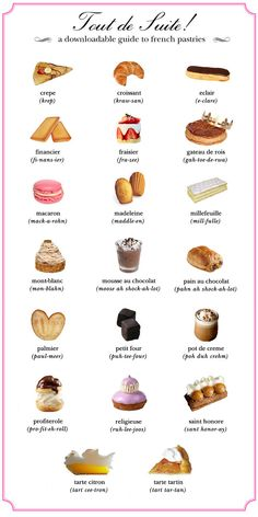 This pastry pronunciation chart: | Here Are 22 Diagrams For Anyone Who's Obsessed With Dessert