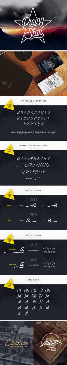 Rising Star Monoline Script - download freebie by PixelBuddha