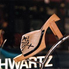 Wooden Shoe/ Mark Schwartz #fashion #highheeledart #shoes #markschwartzshoes #fashion #style #shoes