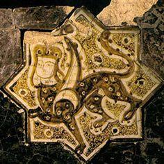 Sphinx/Kubadabad Palace tile Konya Karatay Museum