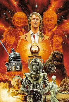 Doctor Who: The Five Doctors, artwork by Colin Howard