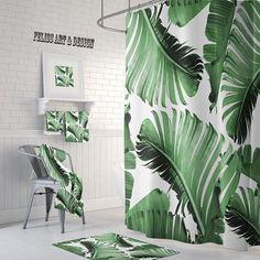 Tropical Bathroom Decor, Beautiful Tropical Shower Curtains