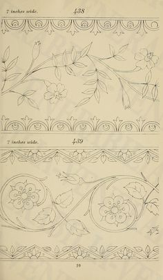 Briggs & Co.'s patent transferring papers : pat. Tambour Embroidery, Embroidery Needles, Hand Embroidery Patterns, Vintage Embroidery, Embroidery Designs, Paper Embroidery, Floral Embroidery, Border Design, Pattern Design