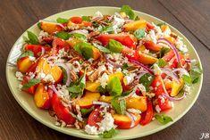 Nectarine - tomatensalade