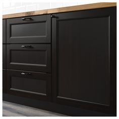 IKEA - LAXARBY 2-p door/corner base cabinet set black-brown