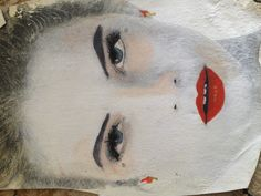 Beauty  Transfer to canvas  Watercolour