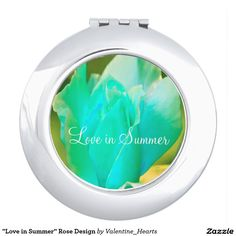 """Love in Summer"" Rose Design Travel Mirrors"