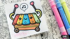 Kawaii Xylophone - How To Draw Cute Toys by Garbi KW