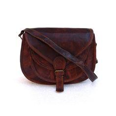 Cross body Purse Tote purse Gypsy Hobo style ladies purse women purse vanity purse satchel travel pouch camera case - Genuine Rustic Leather. $39.99, via Etsy.