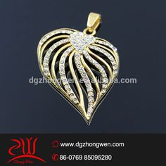 18k IPG gold filled jewellery, hollow heart shaped designs, CZ diamond paved