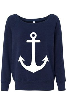 Anchor appliqué sweater