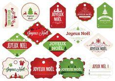 Étiquettes Joyeux Noel                                                                                                                                                                                 Plus