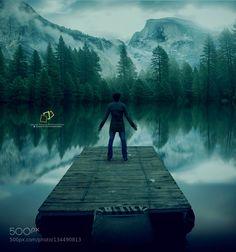 Popular on 500px : Yosemite National Park (self portrait) manipulated by Umairmaalik