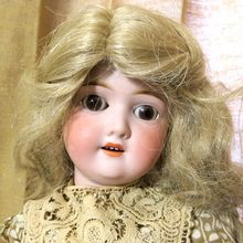 Antique Schoenau & Hoffmeister 20 inch doll in antique country dress