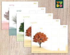Atividades Estações do Ano . Seasons Activity . Montessori . | Etsy Spring, Etsy, Seasons Of The Year