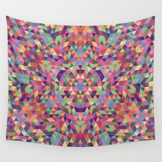 Colorful Triangle Mandala Wall Tapestry by Mandala Magic by David Zydd - Small: x Stylish Home Decor, Retro Home Decor, Fall Home Decor, Cheap Home Decor, Vintage Decor, Minimalist Home Interior, Minimalist Decor, Mandala Tapestry, Wall Tapestry