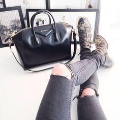 Givenchy bag, Chloe Susanna boots