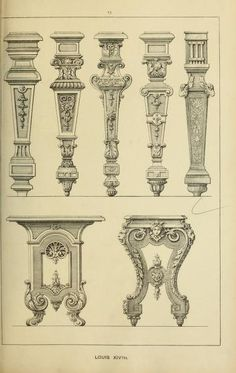 Learn Woodworking Elements of style in furniture and woodwork, be. Furniture Legs, Furniture Styles, Furniture Design, Plywood Furniture, Elements Of Style, Design Elements, Antique Furniture For Sale, Carving Designs, Classic Furniture