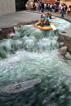 3D street chalk art - I Love Chalk Steet Art :O)