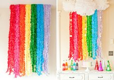 Rainbow Fringe Garland | 16 Fun Photo Backdrop Ideas for Your Next Party