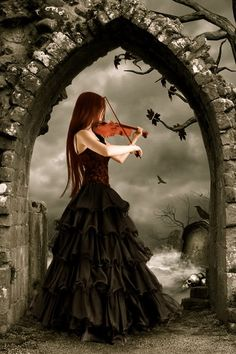 I love gothic art and music. I feel like a violin can bring out feelings. You can really feel the pain the emotion when somebody is playing the violin.