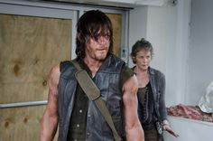 Norman Reedus as Daryl Dixon and Melissa McBride as Carol Peletier on 'The Walking Dead' (AMC)  - Love this interview! (Totally worth clicking through for.)