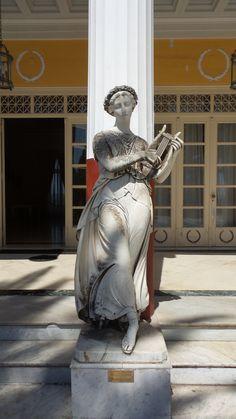 Muse in Kerkyra Corfu, Athens, Muse, Greece, Statue, Greece Country, Athens Greece, Sculptures, Sculpture