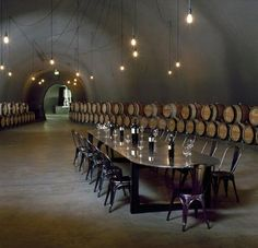 The eco-conscious LEED-gold-certified Cade Winery in Napa was designed by architect Carlos Fernandez of Lail Design Group