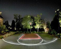 backyard basketball court ideas 14