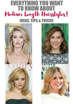 Are you searching for ideas for new a 'do? We've pulled together everything you need and want to know about medium length hairstyles. From finding just the right cut and styling it, to the products that will help take care of your hair and make it do what you want it to. Doesn't that sound amazing?!