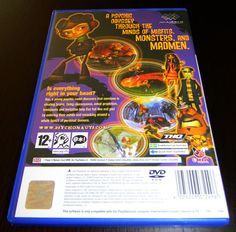 Back cover of the PS2 video game Psychonauts.       Video Game Systems  Information.