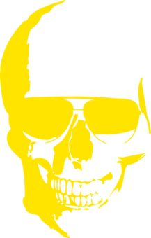 Funny T shirts designs - skull yellow tshirt starts from $16.95