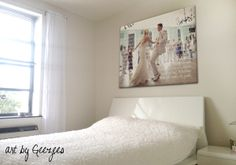 wedding photo with song lyrics in back of the couple on canvas - home decor sign. #valentinesday