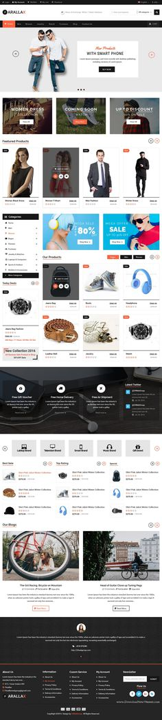 Prallax-Multipurpose PSD Template is a the best design for multipurpose online store website. It has 26 Fully Layered Adobe files, Homepages Style. One Page Website, Website Layout, Website Themes, Design Web, Layout Design, Web Design Inspiration, Design Ideas, Online Themes, Responsive Grid