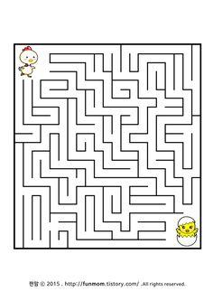 어린이 미로찾기프린트-우리아기 어디있니 child maze game:: Sensory Activities, Toddler Activities, Mazes For Kids Printable, Maze Worksheet, Conan Exiles, Eid Stickers, Maze Puzzles, Maze Game, Hidden Pictures