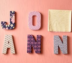 DIY Fabric Covered Letters | Fabric Crafts | Spring Inspiration