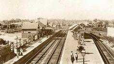 Hornsby Railway Station,looking north,in 1900.