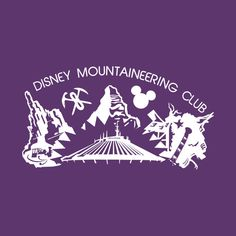 Shop Disney Mountaineering Club (for dark shirts) disneyland t-shirts designed by kruk as well as other disneyland merchandise at TeePublic. Disney T-shirts, Disney Ideas, Disney Magic, Disney Parks, Walt Disney Vacations, Disney Trips, Disney Diy Crafts, Mountain Silhouette, Disneyland Shirts